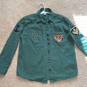 Army Green Button Dowm Shirt